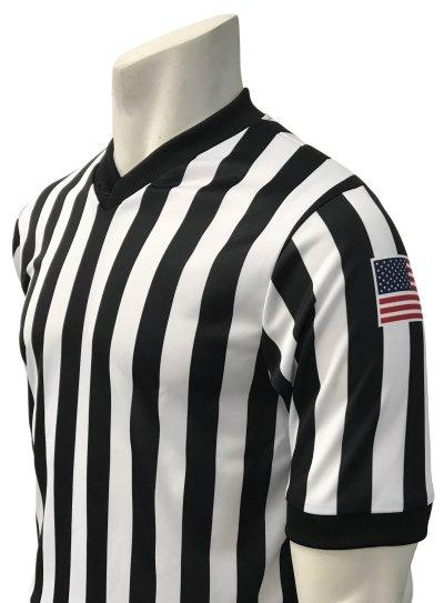 """Smitty """"Made in USA"""" """"BODY FLEX"""" - """"TASO"""" Short Sleeve Basketball V-Neck Shirt"""