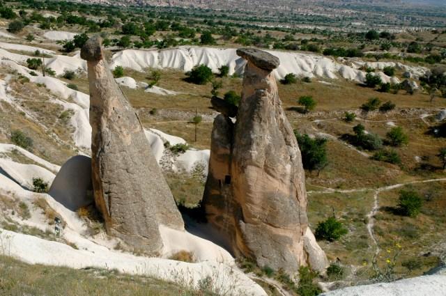 Formações rochosas típicas da Capadócia
