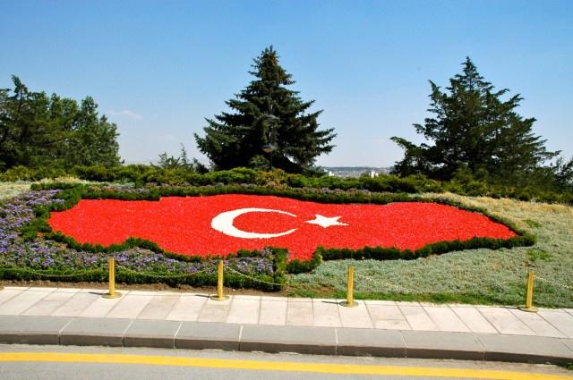 O mapa da Turquia