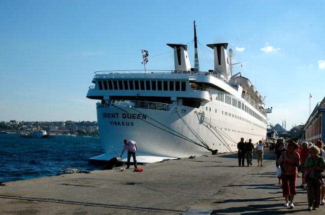 O Orient Queen que nos levou através das Ilhas Gregas