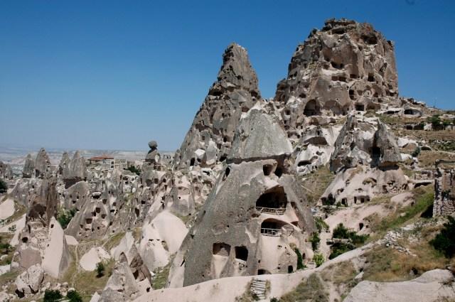 As casas escavadas nas rochas
