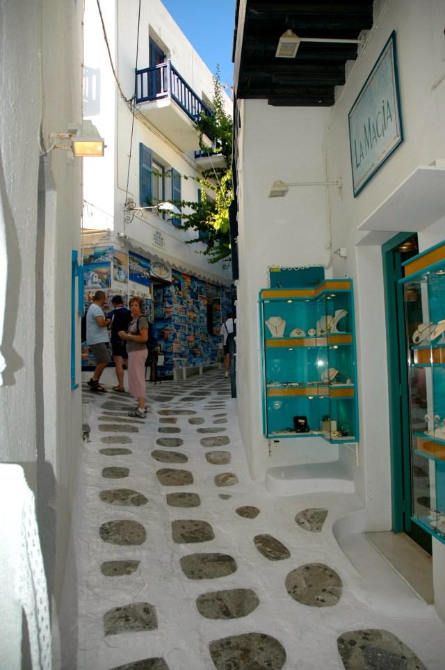 Ruelas típicas de Mykonos