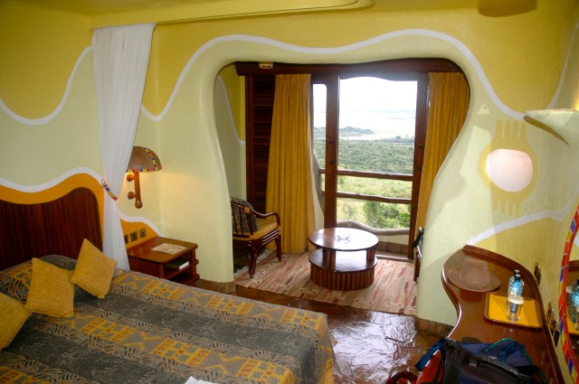 O quarto do Mara Serena Lodge