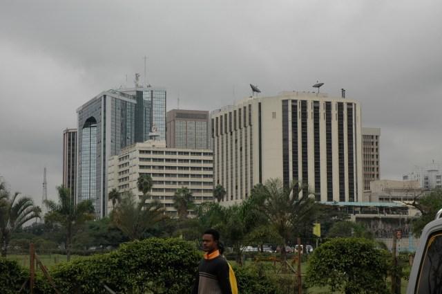O centro financeiro de Nairobi