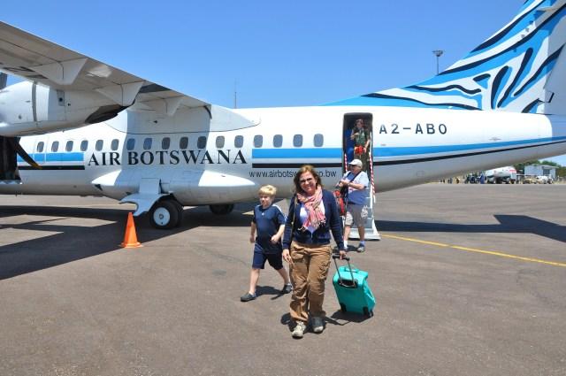 Chegando em Botswana
