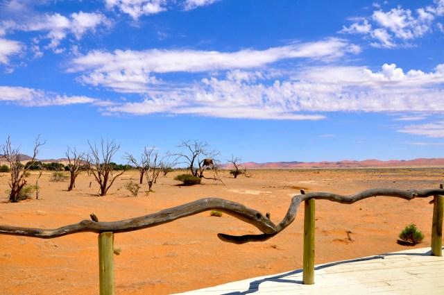 A varanda do Acampamento Little Kulala