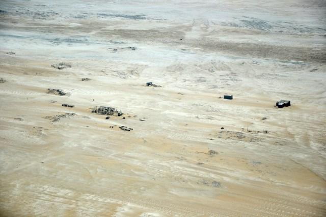 Campos abandonados de exploração de diamantes.