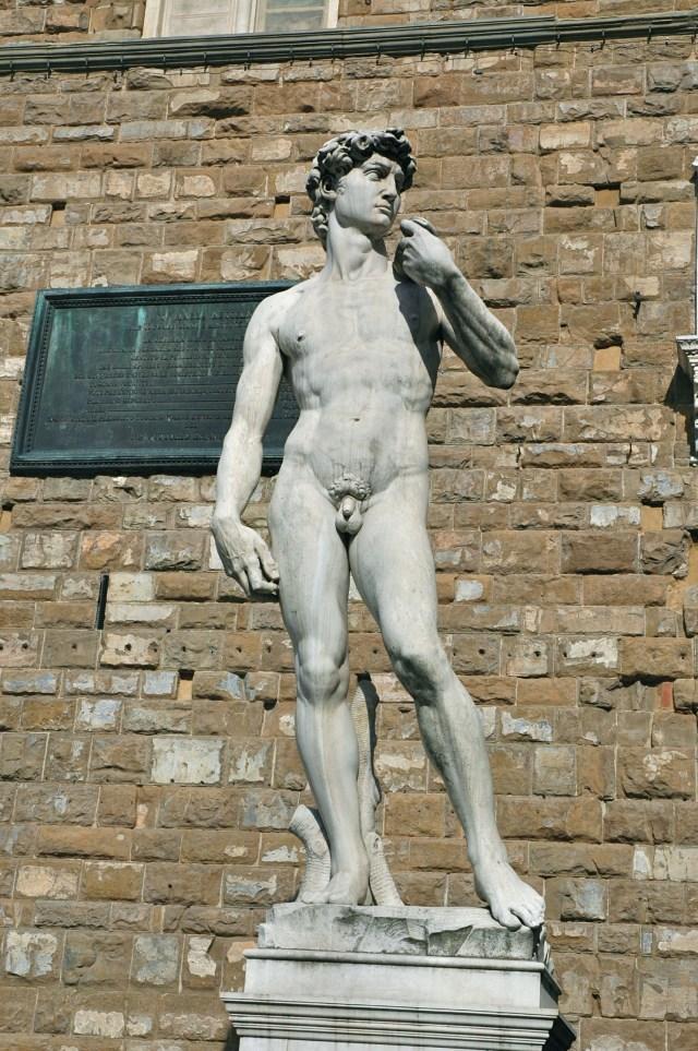 A réplica do Davi na Piazza della Signoria