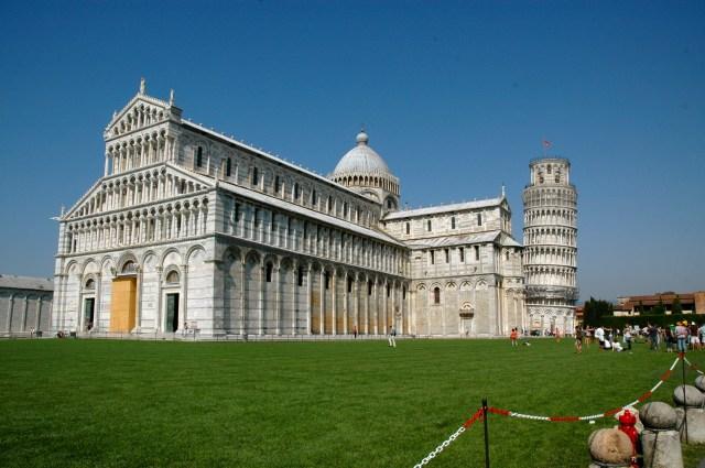 O conjunto do Duomo e da Torre de Pisa
