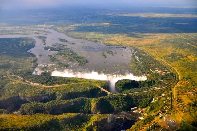 A Victoria Falls, um espetáculo da natureza