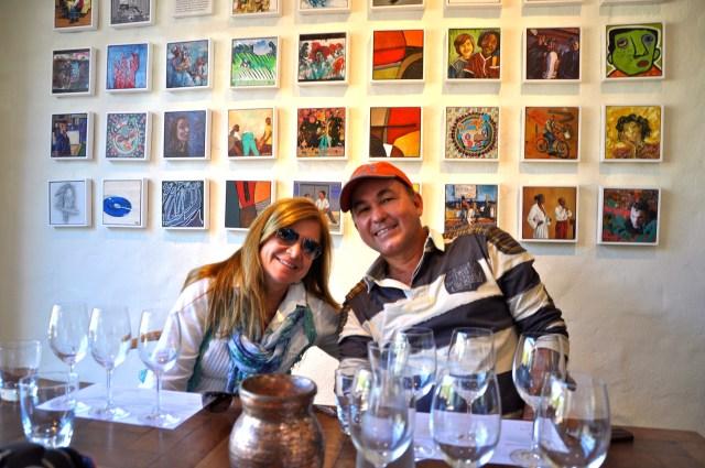 Degustação de vinhos na vinícola Spier.