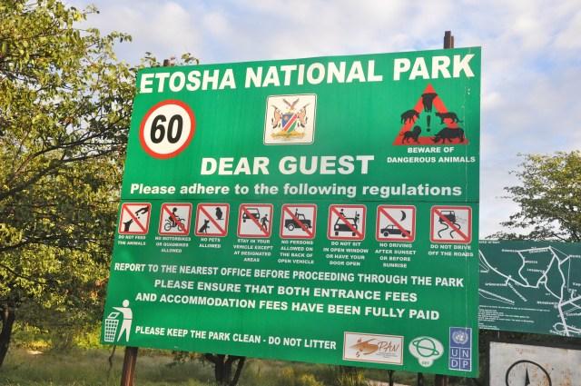 O Parque Nacional Etocha