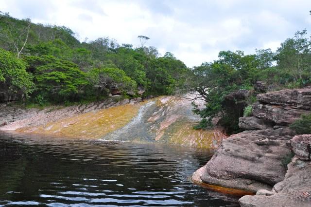 O tobogã natural do Ribeirão do Meio.