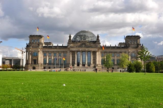 O prédio do Reichstag.