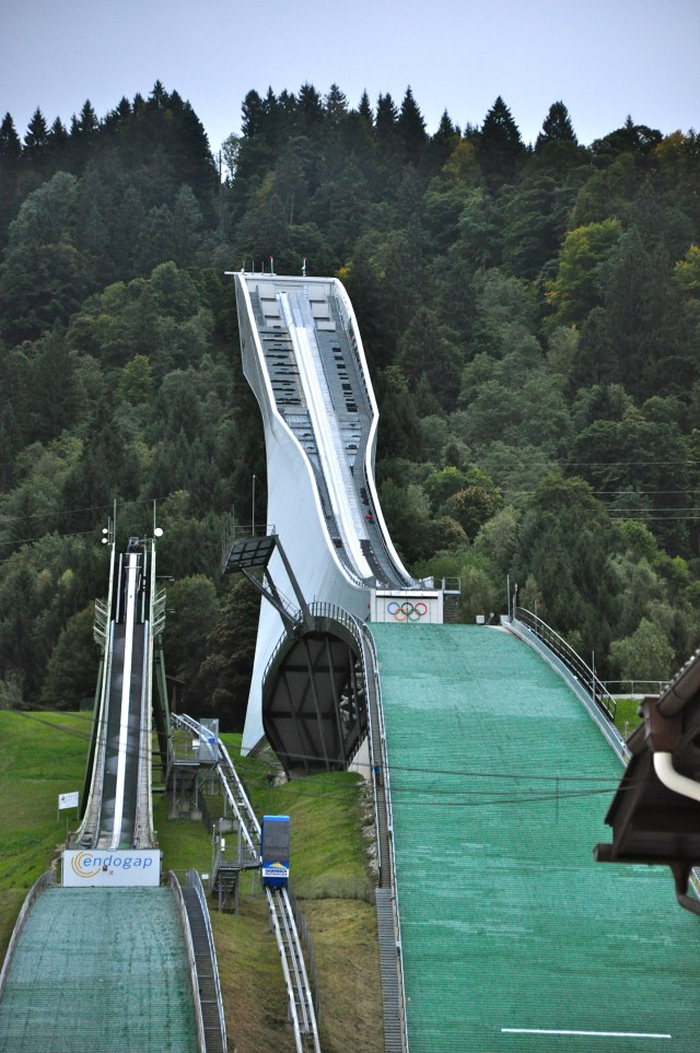 Rampa de salto de esqui em Garmisch-Partenkirchen