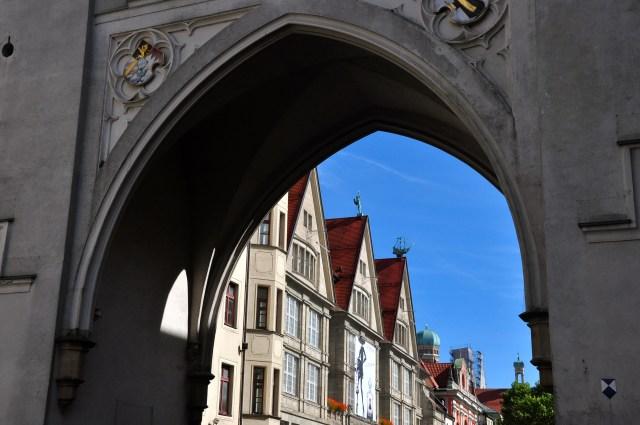 O casario medieval de Munique.