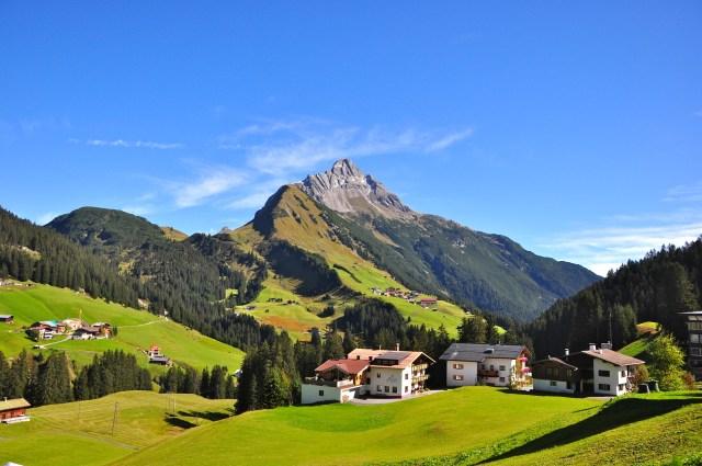 A cordilheira dos Alpes Austríacos