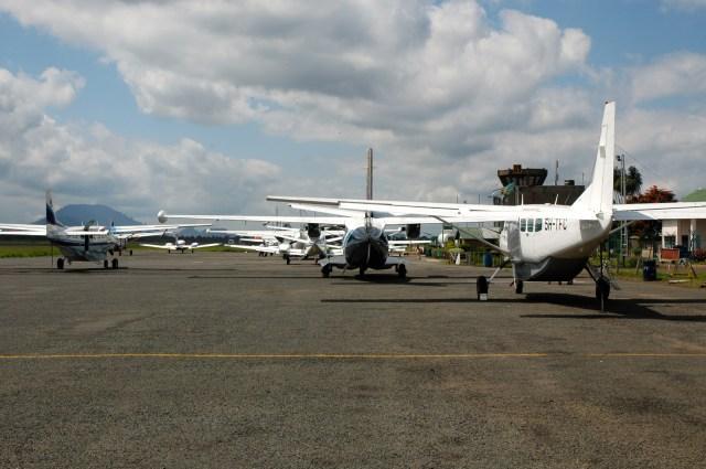 Aeroporto de Nairobi no Quênia.