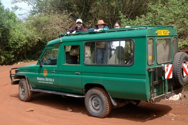 Saindo para mais um safari no Quênia.