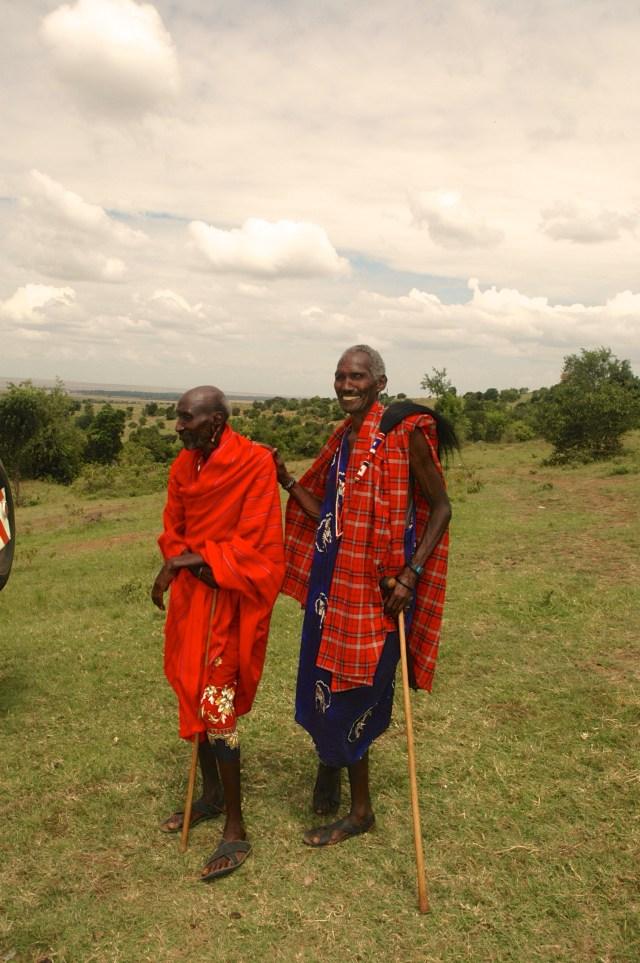 Fomos recebidos pelo chefe dos Masai.