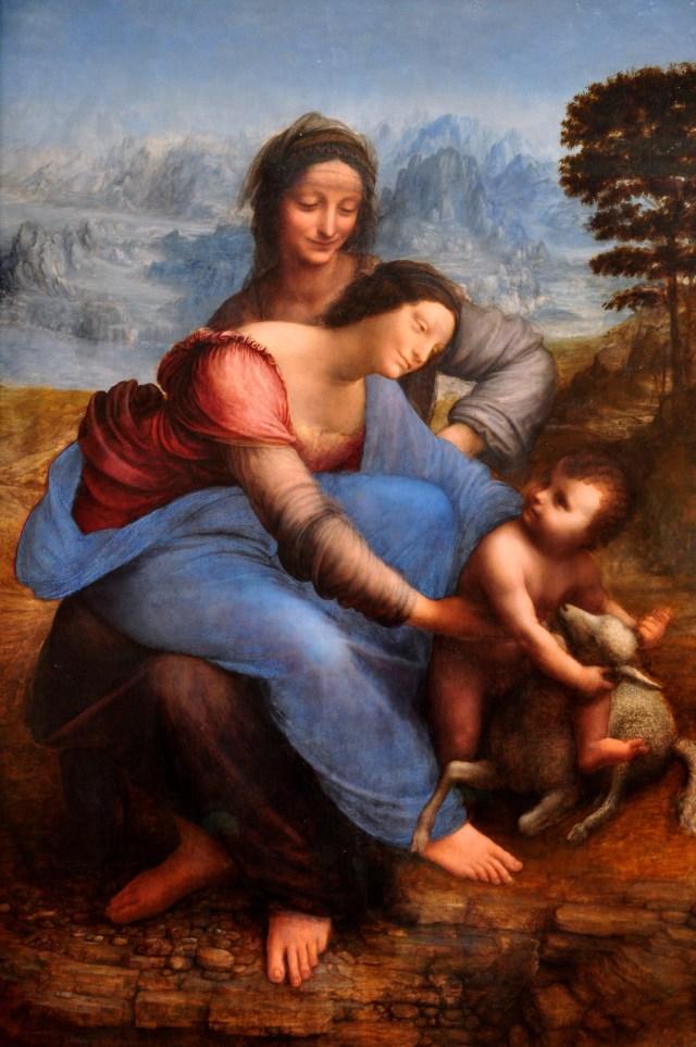 A Virgem com o Menino Jesus e a Madona de Leonardo da Vinci.