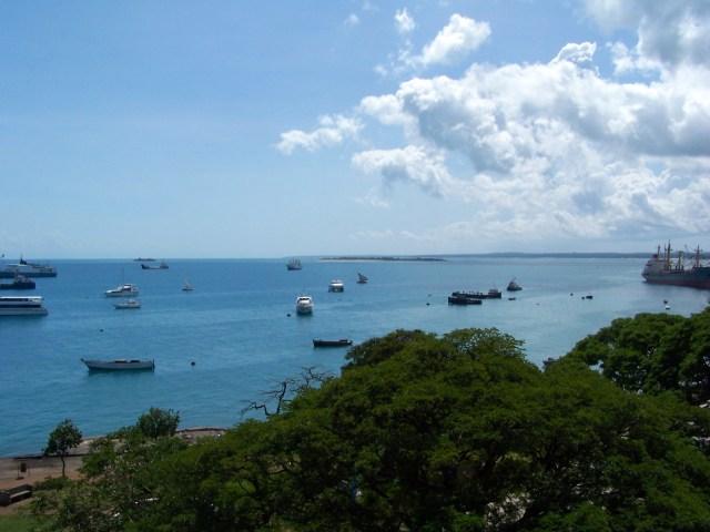 O mar de Zanzibar.