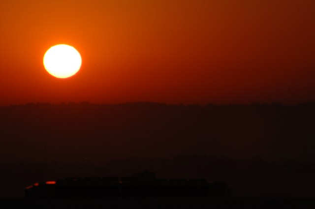 O nascer do sol na África do Sul
