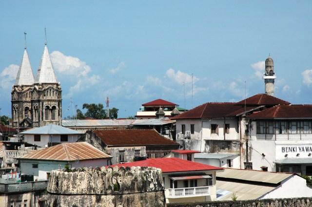 O centro antigo de Zanzibar.