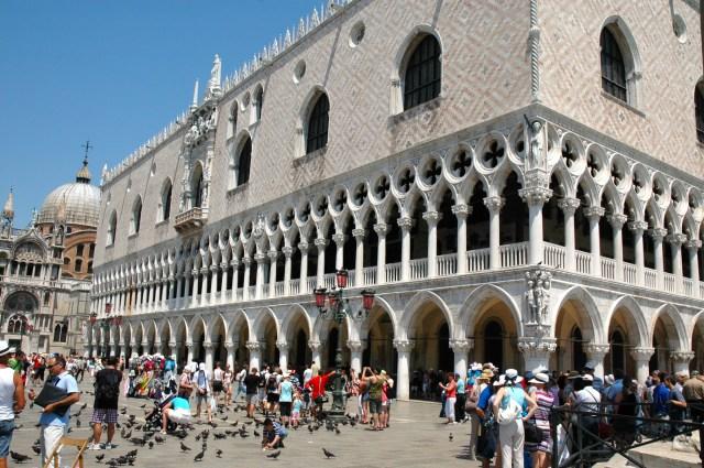 O Palácio dos Doges em Veneza.