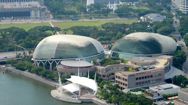 A modernidade da Ópera de Singapura.