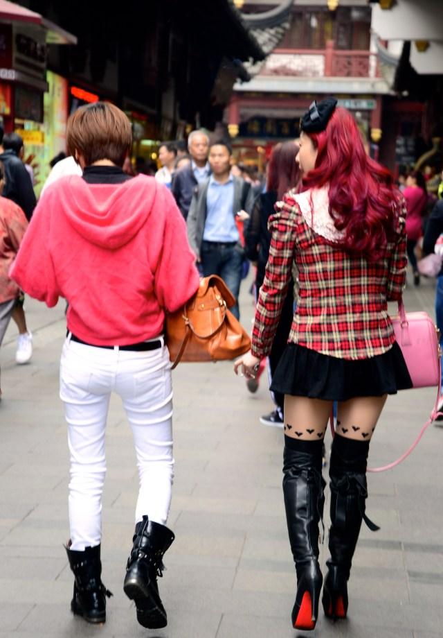 "Garotas ""fashions"" em Shangai."