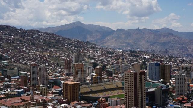 As montanhas de La Paz