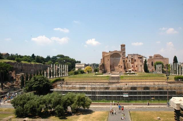Vista geral do Fórum Romano.