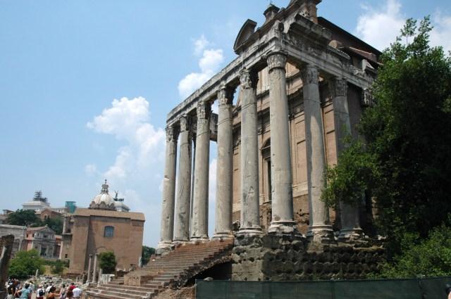 Detalhe do Fórum Romano.