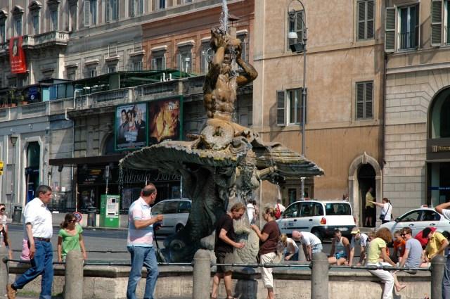 A Fonte de Tritão de Bernini.