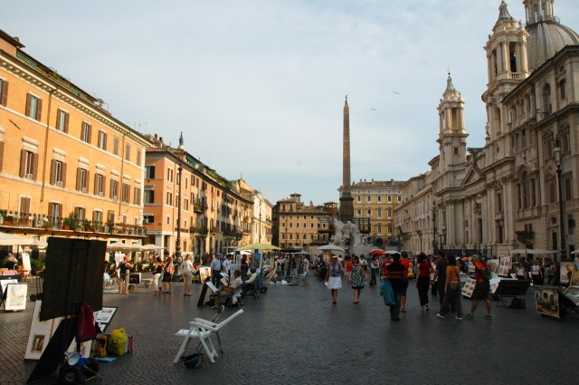 A Piazza Navona.