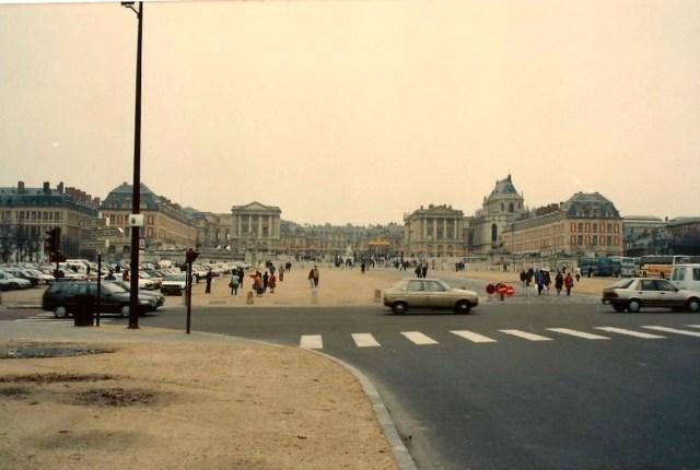 O Palácio de Versalhes.