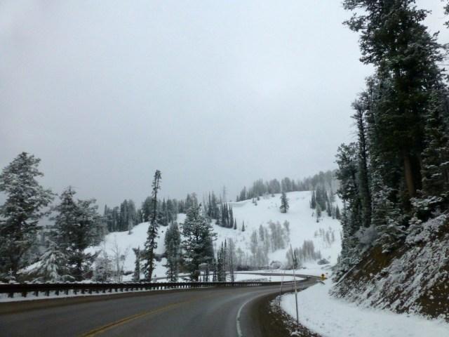 Cruzando as montanhas do Grand Teton.
