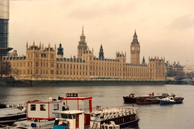 O prédio do parlamento britânico