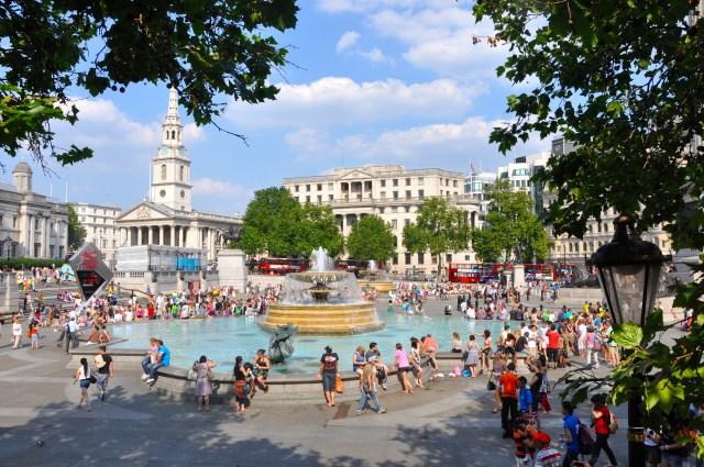 Trafalgar Square - Foto em 2012