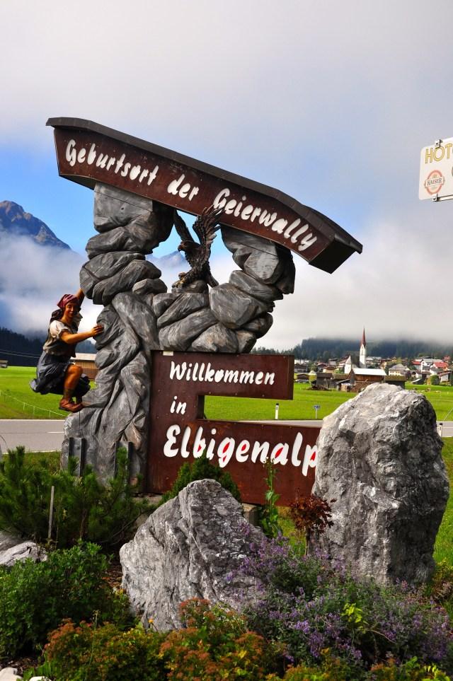 A encantadora região do Tirol.