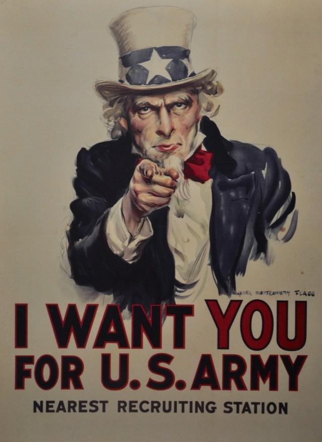 Cartaz para recrutamento de soldados na Primeira Guerra Mundial