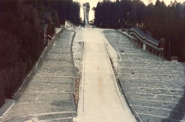 O trampolim das Olimpíadas de inverno de Innsbruck.