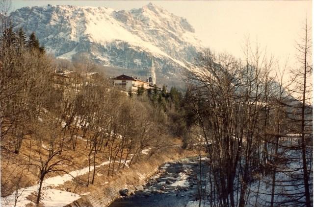 A paisagem na Itália é encantadora.