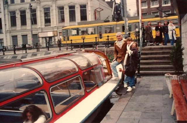 Passeio de barco em Amsterdam.
