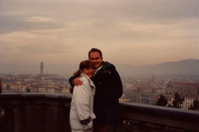 Vista panorâmica de Florença da Praça Michelangelo.