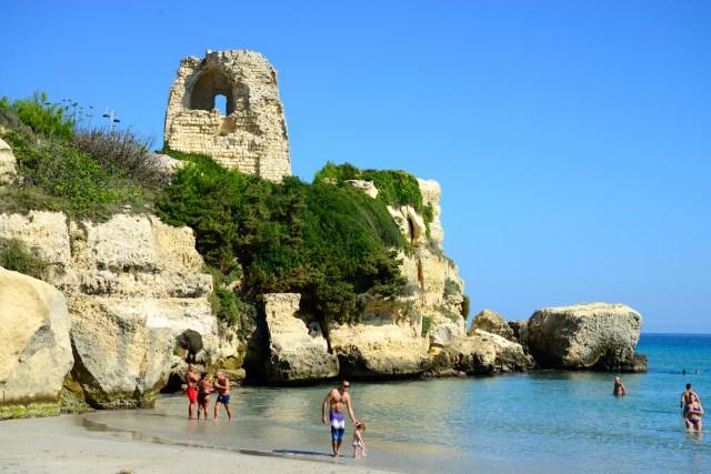 As praias do litoral da Puglia são encantadoras.