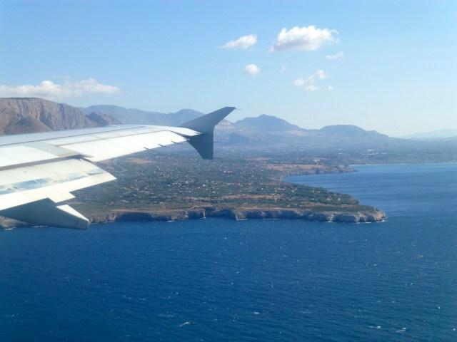 A chegada a Palermo.