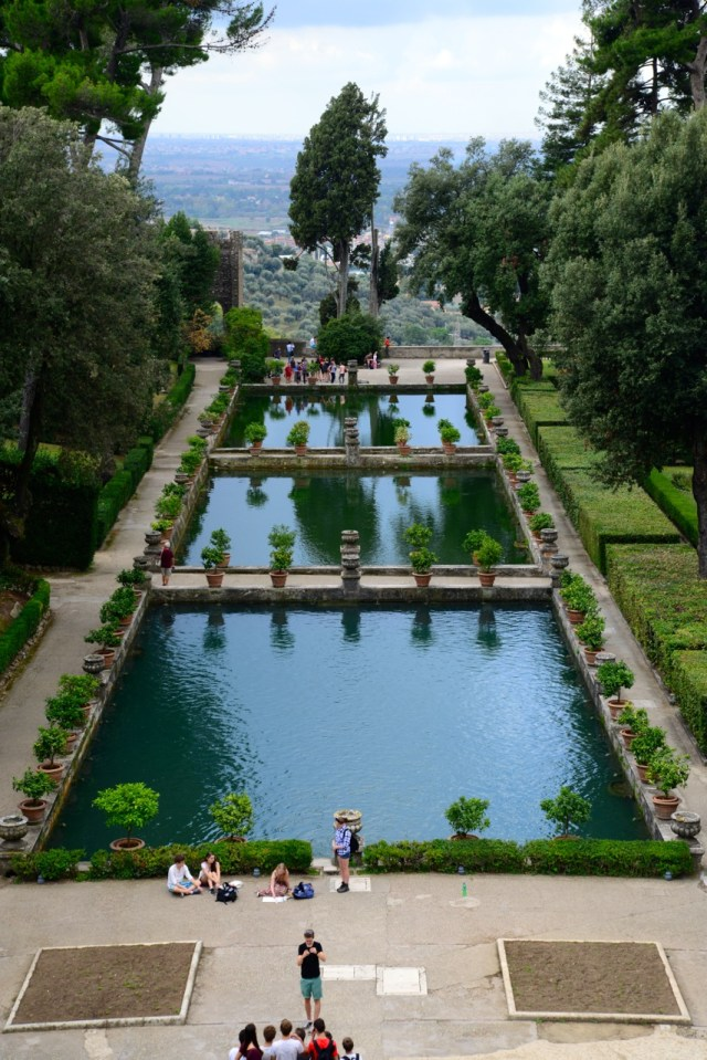 O impecável jardim da Villa D'Este influenciou a arquitetura dos Palácios europeus.