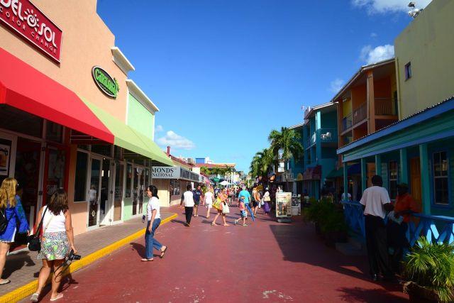 Rua de compras em Saint John